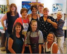 """Mixed Media Magic"" workshop at Murrumbidgee School of Creative Arts, Sturt University, Wagga Wagga, NSW, Australia - January 2005"