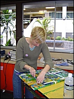 A student of the 2006 TAFTA Brisvegas workshop, creating her masterpiece!